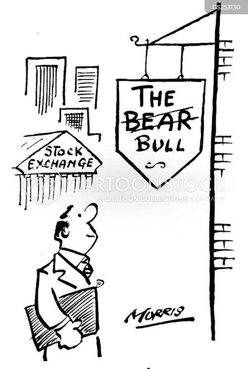 bear and bull markets cartoon