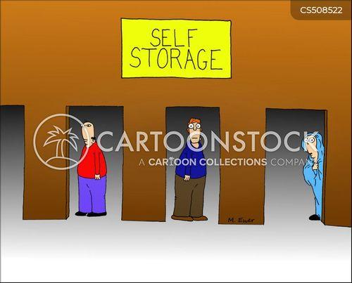 storage unit cartoon