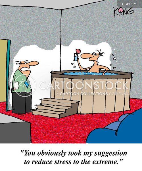 hot tubs cartoon