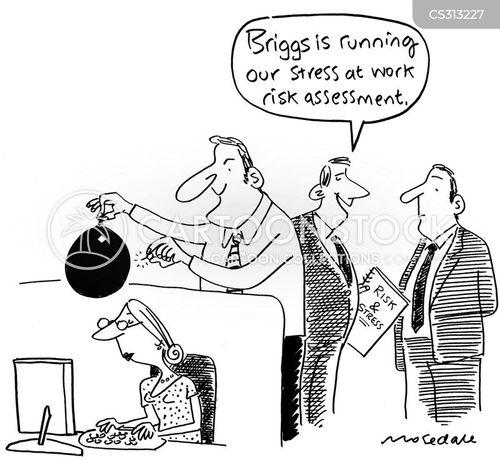 pressure of work cartoon