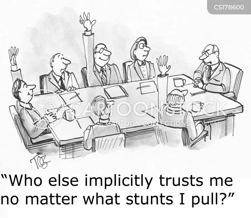 trusting cartoon