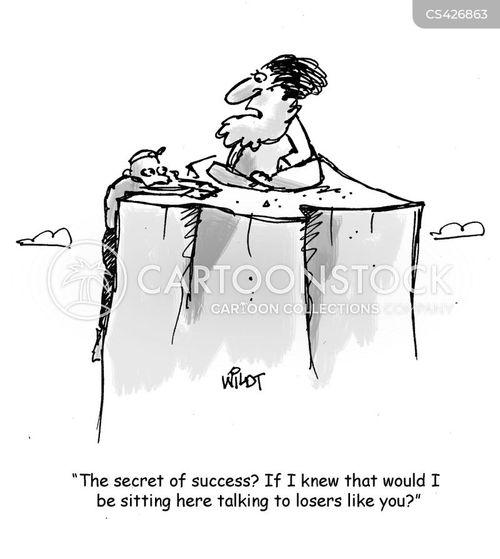 secret of success cartoon