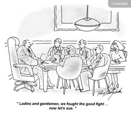 legal actions cartoon
