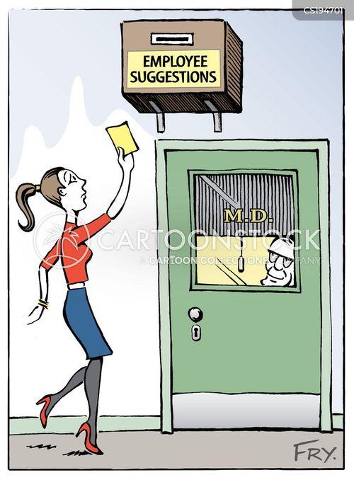 business ladder cartoon