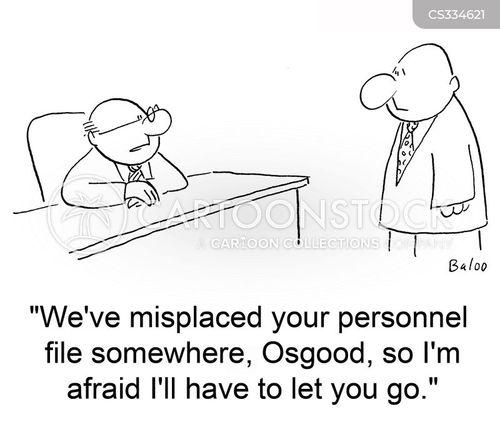 personnel files cartoon