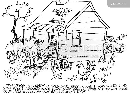 local dialect cartoon