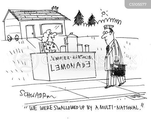 multi-national cartoon