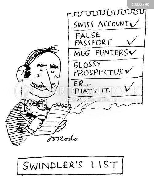 swindler cartoon