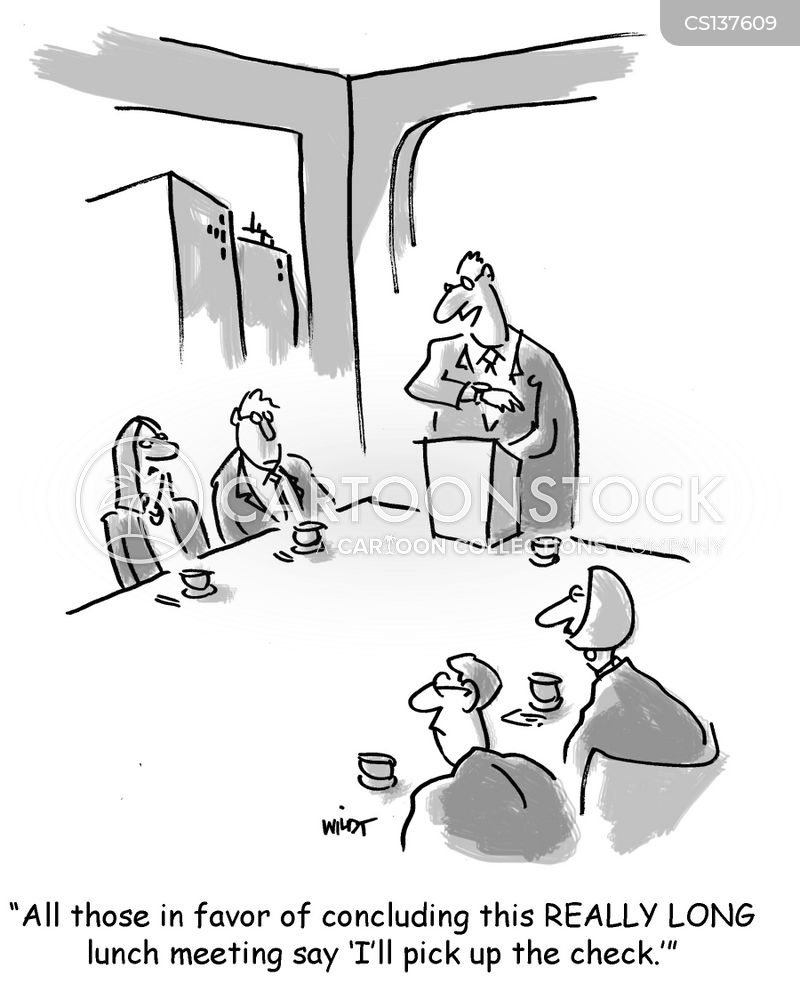 lunch meetings cartoon