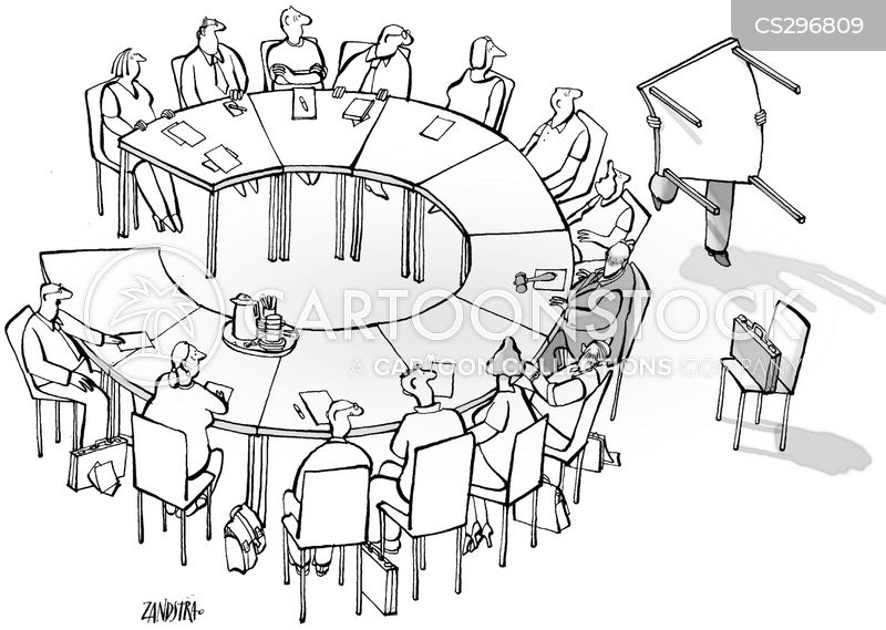 round tables cartoon