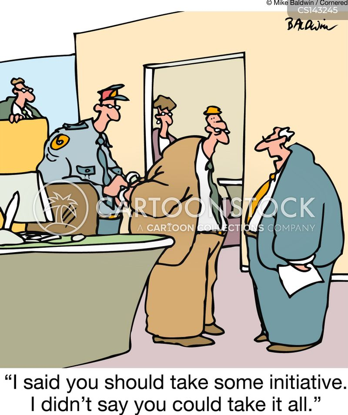 take initiative cartoon