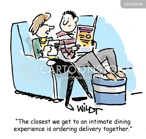 dining in cartoon