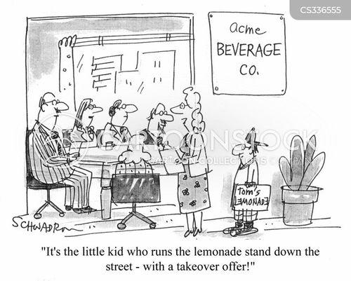 takeover bid cartoon