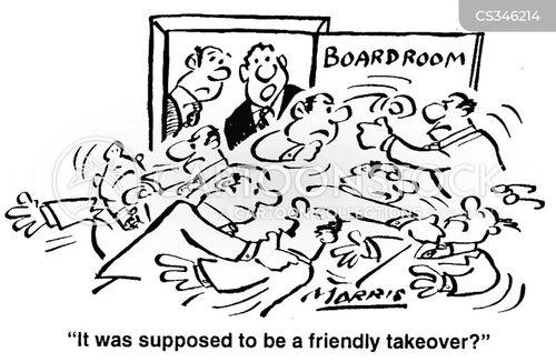 friendly takeover cartoon