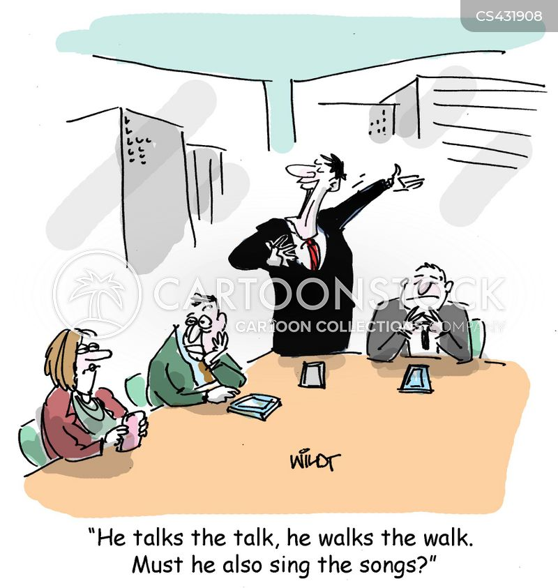 walking the walk cartoon