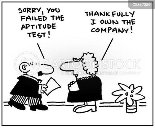 aptitude tests cartoons and comics