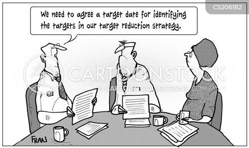 target setting cartoon