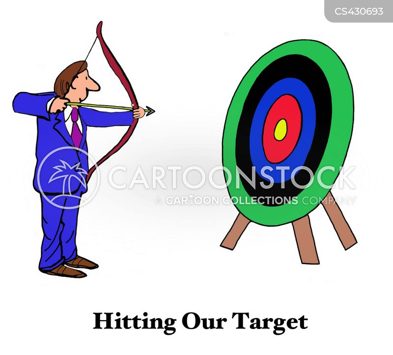 business targets cartoon