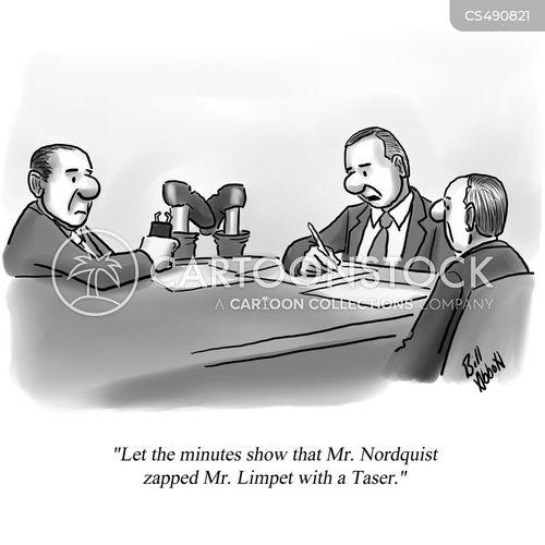 corporate conflict cartoon