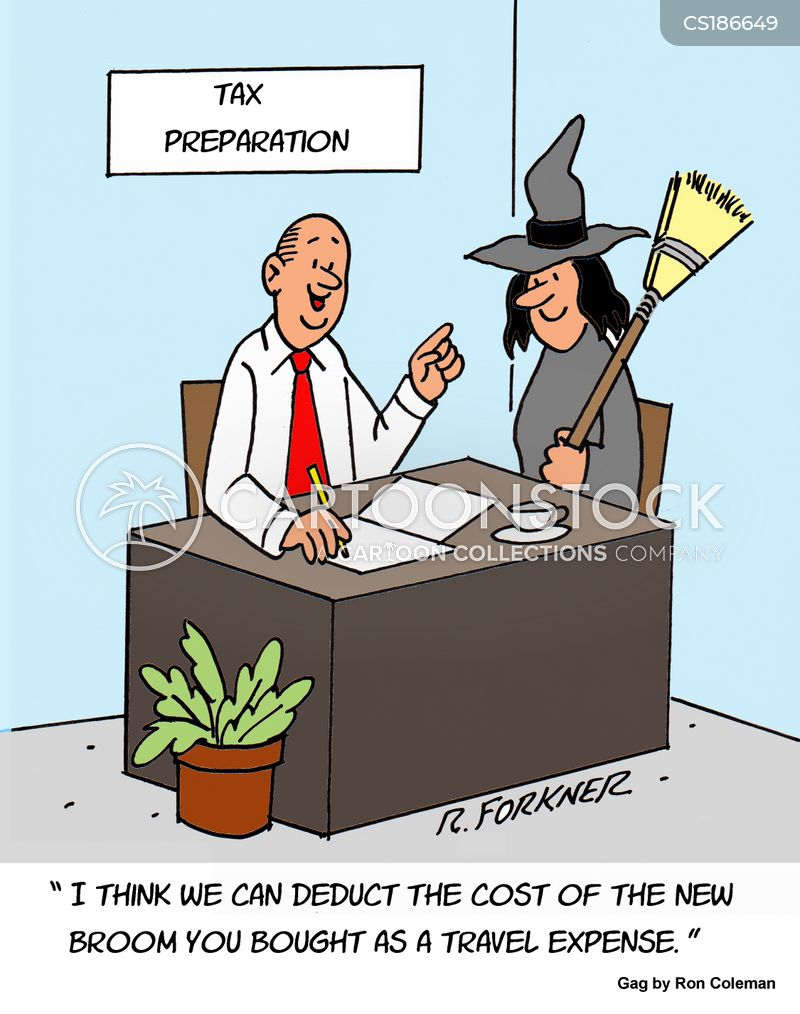 tax deduction cartoon