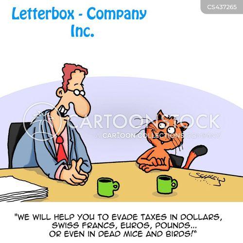 offshore banks cartoon