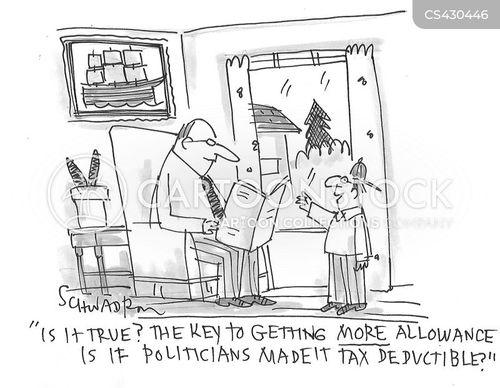 tax deductible cartoon