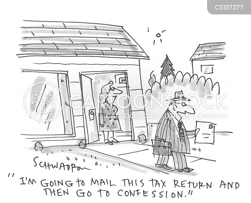 tax deadline cartoon