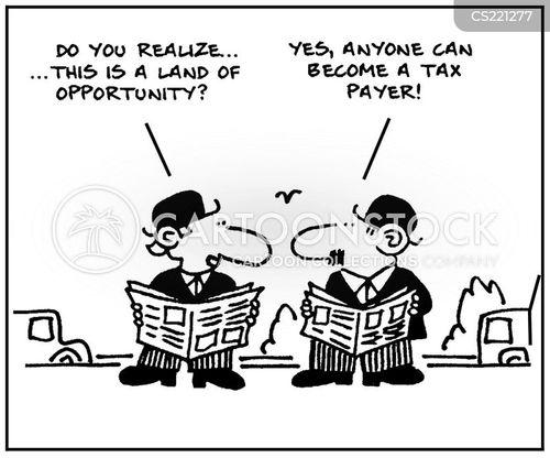 land of opportunity cartoon