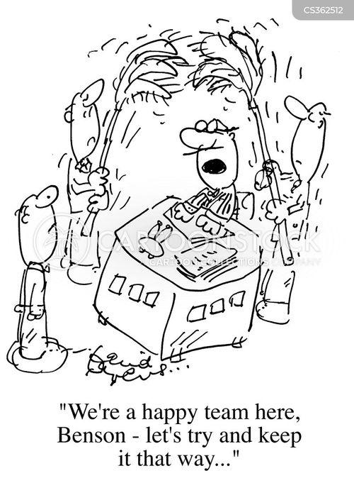 team manager cartoon