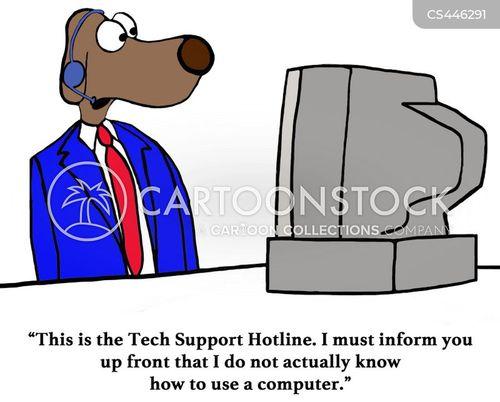 support line cartoon