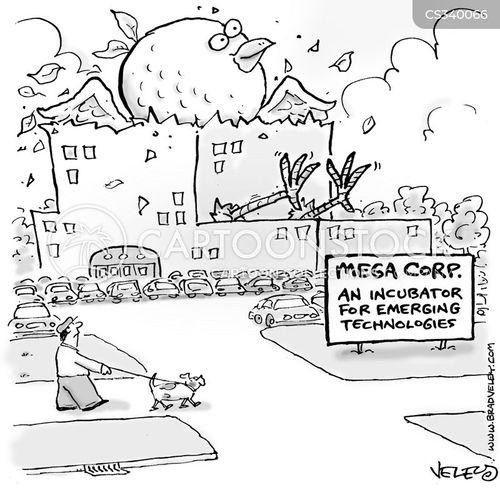 business start-up cartoon