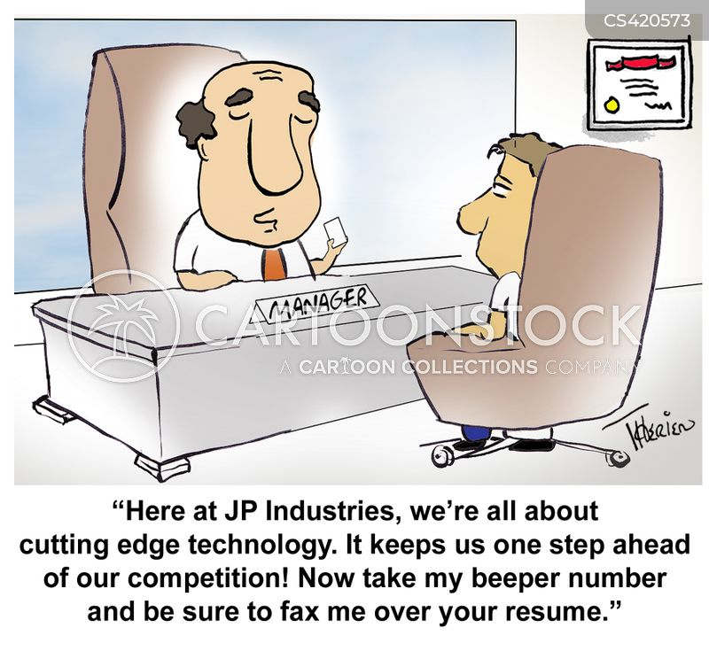 cutting edge technology cartoon