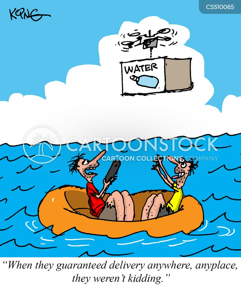 drone delivery cartoon