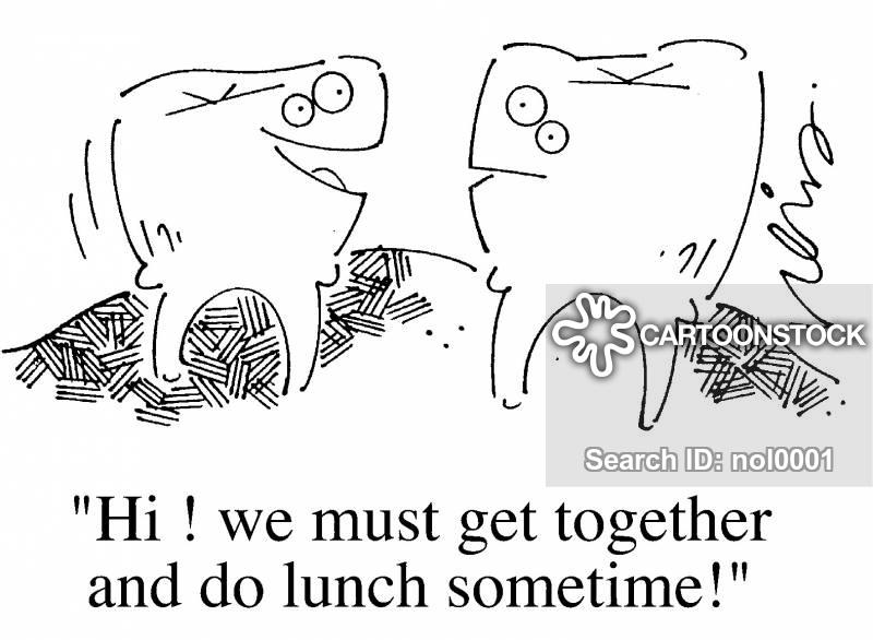 do lunch cartoon