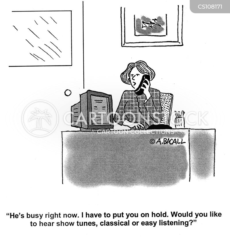 office manager cartoon