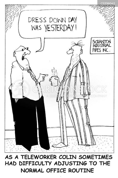 teleworkers cartoon