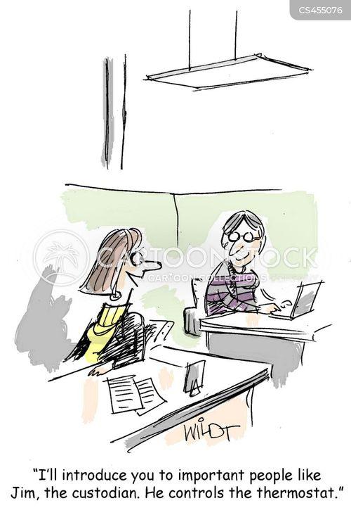 office temperature cartoon
