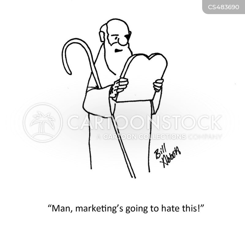 advertising departments cartoon