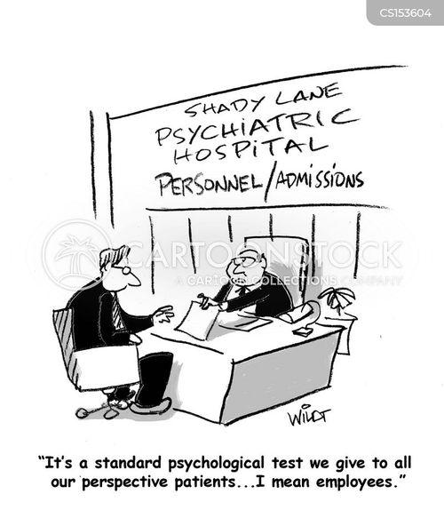 admitting cartoon