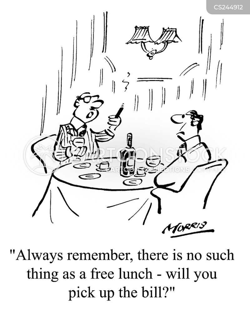 picking up the tab cartoon