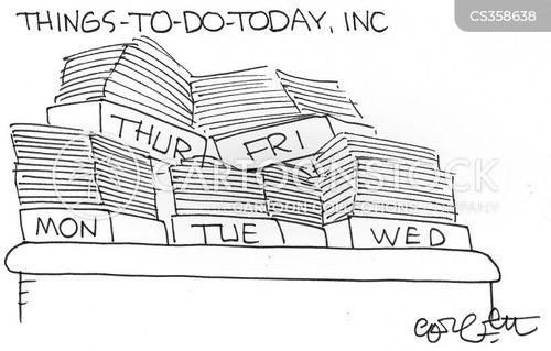 things to do list cartoon