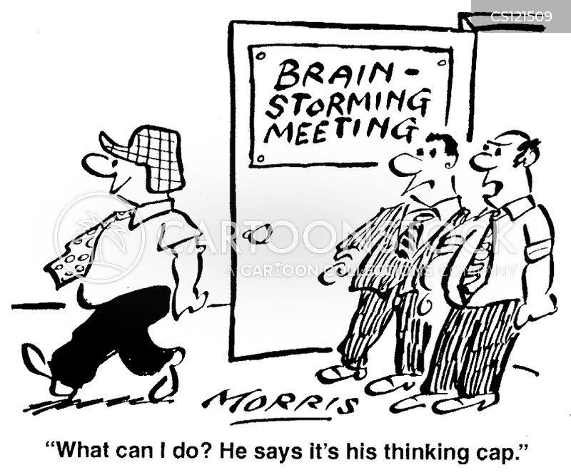 brain-storm cartoon