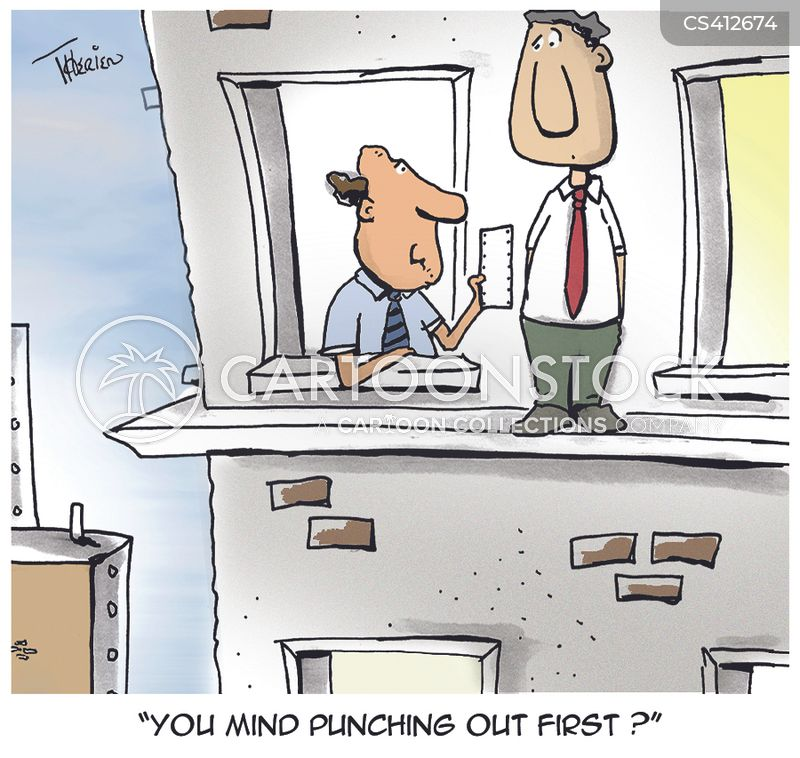 timecard cartoon 5 of 5 - Time Card Punch