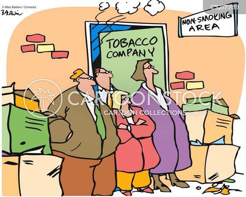 non-smoking area cartoon