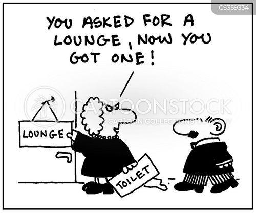 employee lounges cartoon