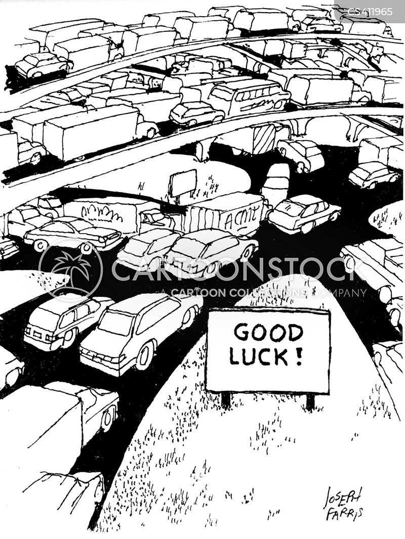 traffic delays cartoon