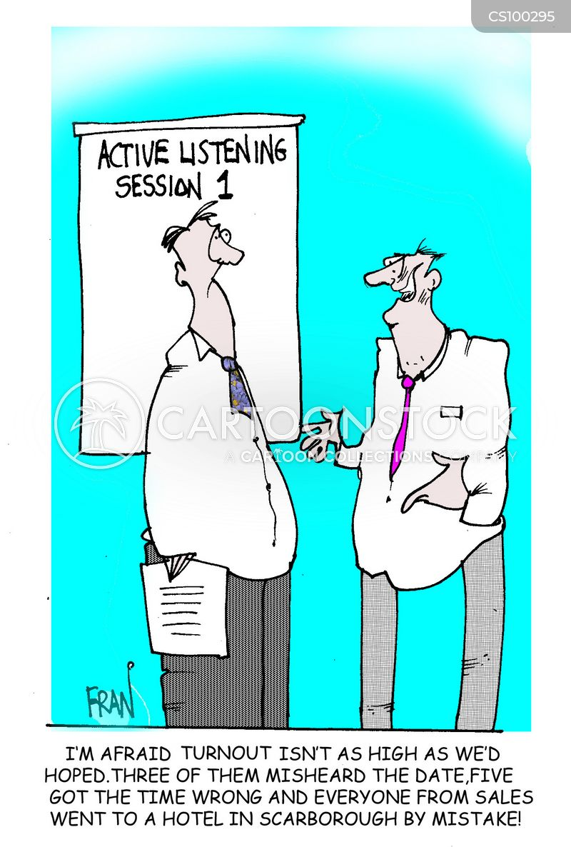 listening cartoon