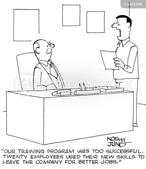 training programs cartoon