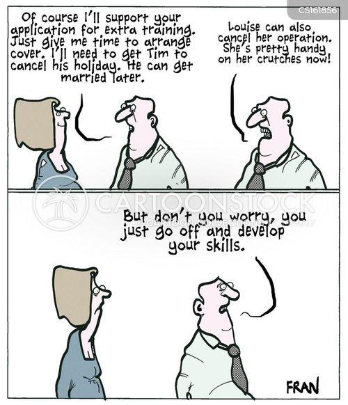 staffing cut cartoon