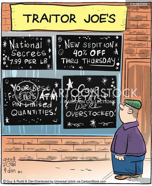 treason cartoon